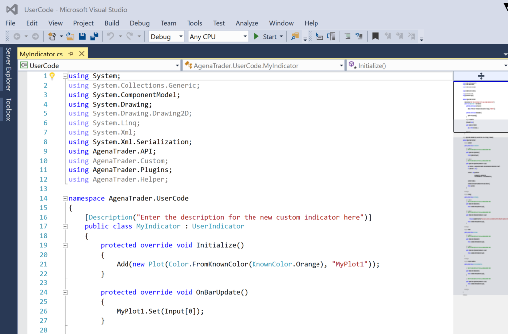 Visual Studio Scripteditor